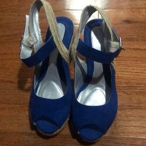 Blue Suede Wedges (6)